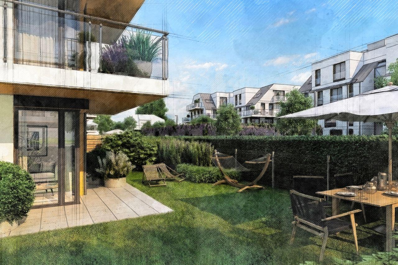 Nowoczesne mieszkania z ogródkiem na parterze
